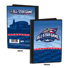 Photo Album Display Stand 100 NHL AllStar Game Hockey Puck Ticket Display Stand Columbus 63