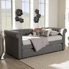 modern daybed.  Daybed Mickel Modern And Contemporary Fabric Daybed With Trundle Inside P