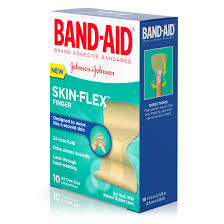 Band-Aid Brand Skin-Flex Adhesive Bandages, Finger, 10 Count ...