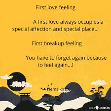 First Love Feeling Quotes Writings By C Hema Kiran Yourquote