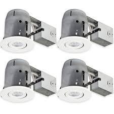 globe electric 5 in white recessed swivel spot light kit 4 pack