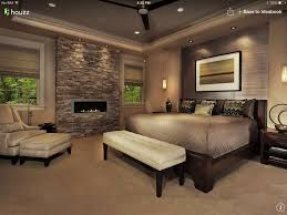 master bedroom ideas with fireplace. Master Bedroom - A Little Extreme But Like The Different Textures With Paint And Stone, Colors. Ideas Fireplace O
