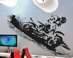 motocross decals for walls vinyl wall decal sticker motocross racing dirt bike wall decal  on dirt bike wall art with wall decal good look motocross decals for walls motocross home