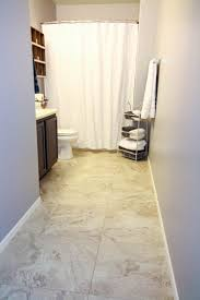 Vinyl Bathroom Floors Update A Boring Bathroom With Vinyl Tile