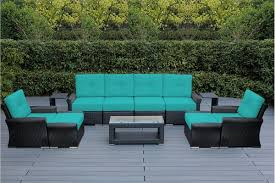 ohana 11 piece outdoor patio wicker furniture luxury seating set with sunbrella cushions