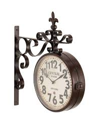 full size of vintage double sided clock modern double sided wall clock pottery barn side mounted