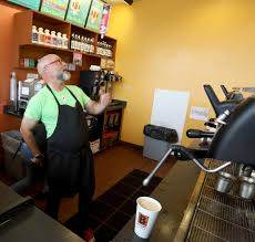 Edgar's coffee, which has a dark chocolate flavor with notes of citrus and banana, is grown on the ideal. Biggby Coffee Co Ceo Drinks 14 Espressos A Day