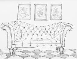 fancy couch drawing. Copic Marker Rendered Sofa Fancy Couch Drawing