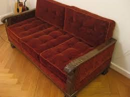 vintage couch for sale. Sale-red-velvet-vintage-convertible-couch-200-chf- Vintage Couch For Sale G