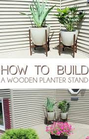 wooden plant holder wooden planter stand guest post wood hanging plant stand diy