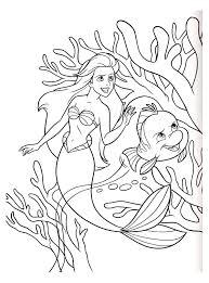 Coloriage Disney Princesse Ariel Et Son Prince Free Coloriage En