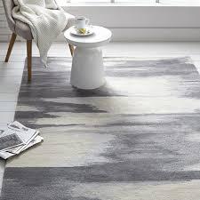 faded ikat wool rug slate
