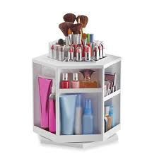 White Makeup Organizer Amazoncom Lori Greinerar Spinning Cosmetic Organizer In White Beauty