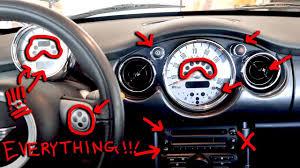 Mini Cooper Dashboard Lights Stay On Mini Cooper Dashboard Lights Buttons Switches Explained R52 2007 Model