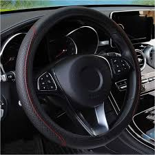 car steering wheel covers faux leather elastic 38cm 15 pu leather steering cover ar interior accessories
