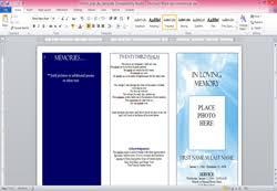 How To Make A Funeral Program Funeral Program Template Microsoft Word Elegant Memorials