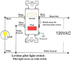 how to wire combination switch outlet cooper 277 pilot light switch
