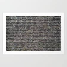 old brick wall background art print by