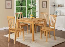 Rubberwood Kitchen Table Letitia Lucille Square Kitchen Dining Table Sleek Shaker Legs