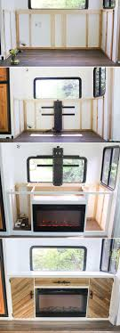 Hidden Tv Cabinets Installing A Tv Lift And Electric Fireplace In Rv