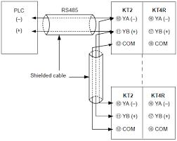 kt4r temperature controller wiring connection panasonic communication function connection diagram plc connection diagram