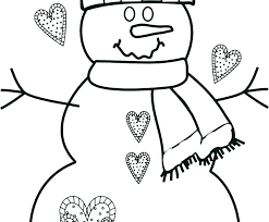 Free Snowman Coloring Pages Snowman Coloring Sheet Coloring Pages