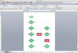 flowchart in word flowcharts in word