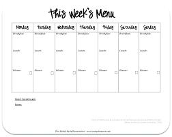 Meal Plan Calendar Printable Radrlab Co