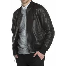 the er ma 1 leather jacket ma1 front details