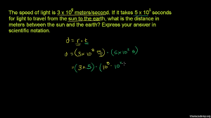 speed of light equation chemistry. scientific notation word problem: speed of light (video) | khan academy equation chemistry
