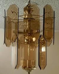 glass panel chandelier chandelier lamp octagon flat beveled smoked glass panels glass panel chandelier glass panel