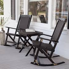 industrial style outdoor furniture. Outdoor Vintage Wicker Rocking Chair Black Double Industrial Style Furniture