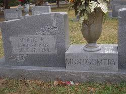 Myrtie Effie Roan Montgomery (1902-1989) - Find A Grave Memorial