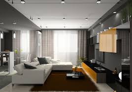 Decorations:Fiber Optic Home Track Lighting In Living Room Idea Minimalist  Apartment Living Room With