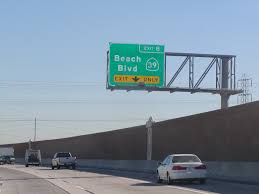 state highway junction route ca 22 eastbound garden grove freeway approaching exit 8 state