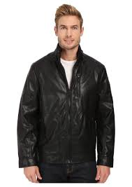 calvin klein smooth faux leather jacket