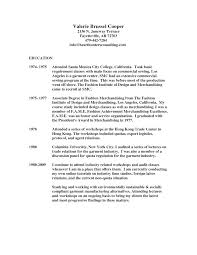 Cover Letter For Fashion Industry Resume For Fashion Industry