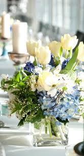 silk hydrangea centerpieces faux hydrangea arrangement in clear glass vase silk hydrangea centerpieces diy