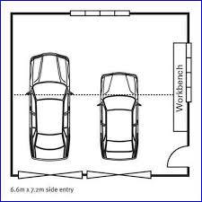 Carports  Typical Single Car Garage Dimensions Standard Double Double Car Garage Size