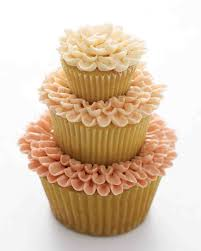 Three Tier Wedding Cupcakes