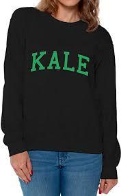 Awkward Styles Womens Kale Crewneck Vegetarian Organic Sweatshirt G