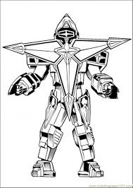 Small Picture Robot Enemy coloring page Cartoons Power Rangers Superhero