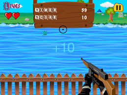 screenshot 1 for a shark shooter sniper game scary fish revenge free