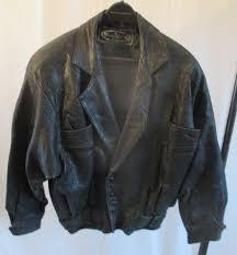 vtg 80s sz s distressed dreske anne somoff black leather jacket australia oz coz