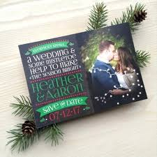 Christmas Wedding Save The Date Cards Christmas Save The Dates Seanodowd