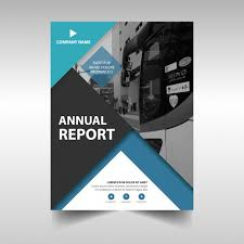 Free Company Report Annual Business Report Template Vector Free Download
