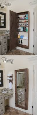 DIY Bathroom mirror storage case that holds everything. - I love this!