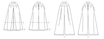 Culottes Pattern Magnificent V48 Misses' Culottes Shorts And Pants Sewing Pattern Vogue
