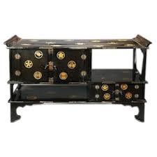 black lacquered furniture. japanese black lacquer tana lacquered furniture b