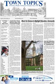 town topics princeton s weekly community newspaper since  19 2017